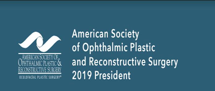 Anúncio do novo Presidente da Sociedade Americana de Cirurgia Plástica Ocular