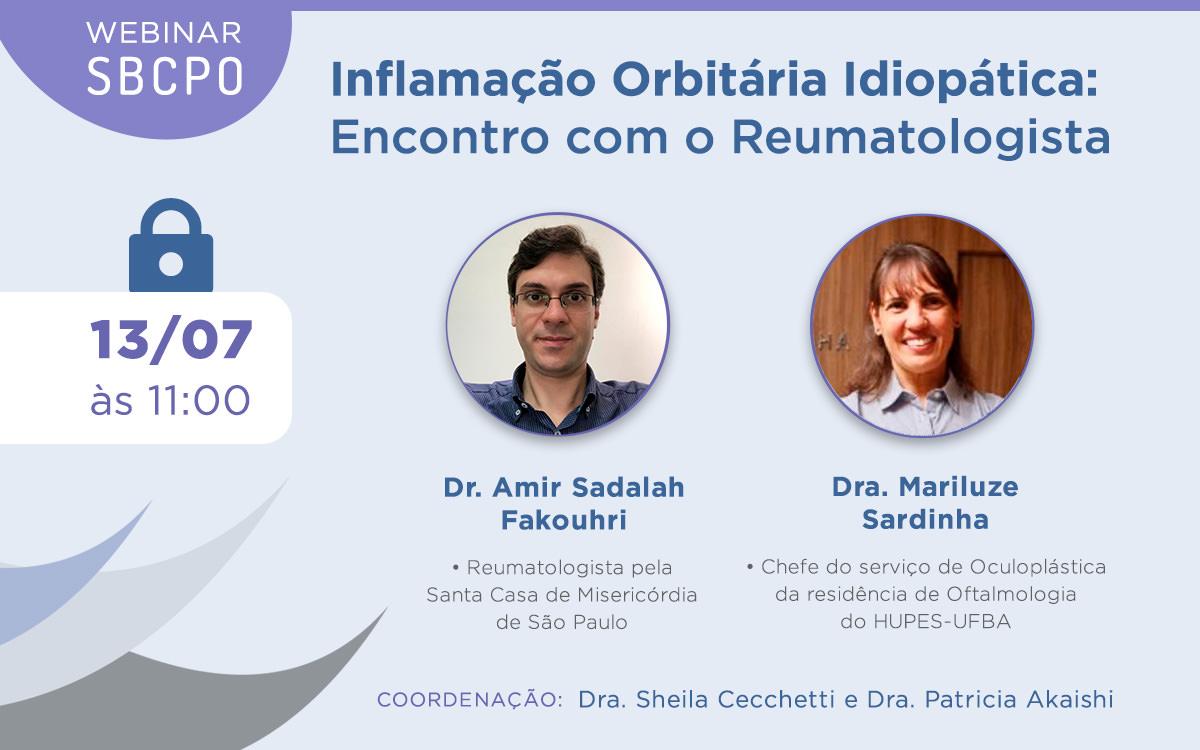 Webinar SBCPO: Inflamação Orbitária Idiopática – Encontro com o Reumatologista